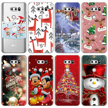 Soft TPU สำหรับ LG X Power 2 Merry Christmas กรณีการ์ตูนสำหรับ LG Q7 Q6 V20 V30 G6 G5 g8 ThinQ K4 K8 K11 K10 2017 2018 Nexus 5X(China)