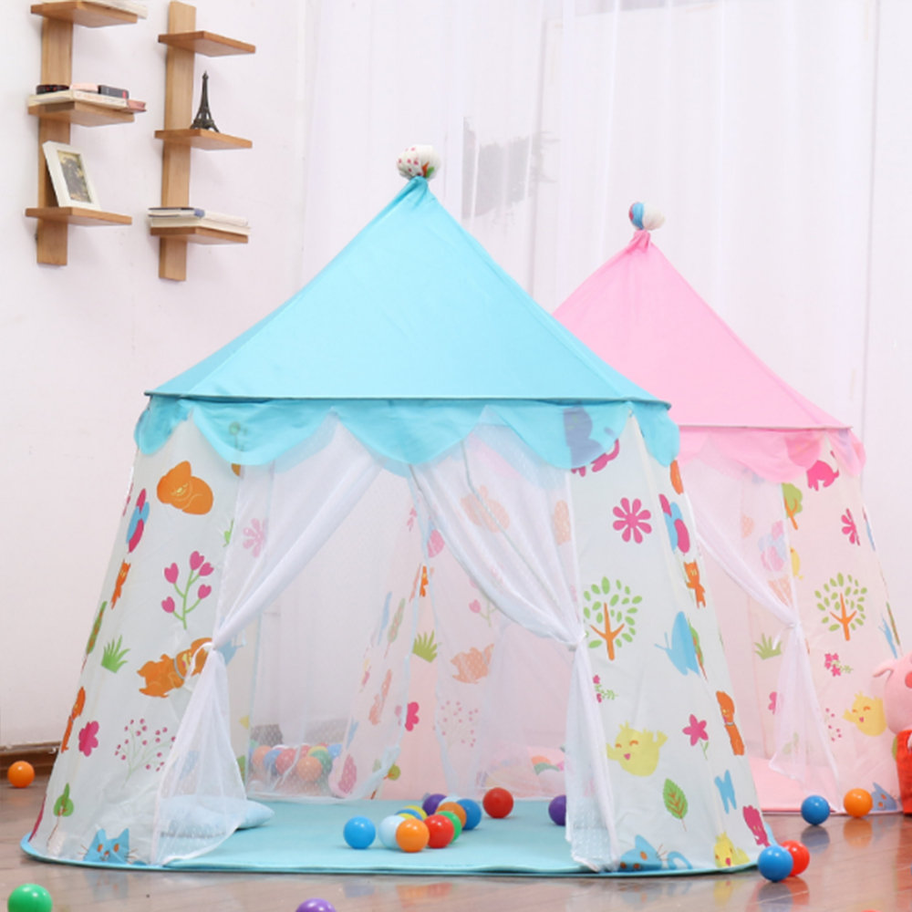 Portable Children Tents Baby Castle Tipi Boys Girls Outdoors Ball Pool Kid Play House Infant Indoors Sleep Room Teepee Game Tent