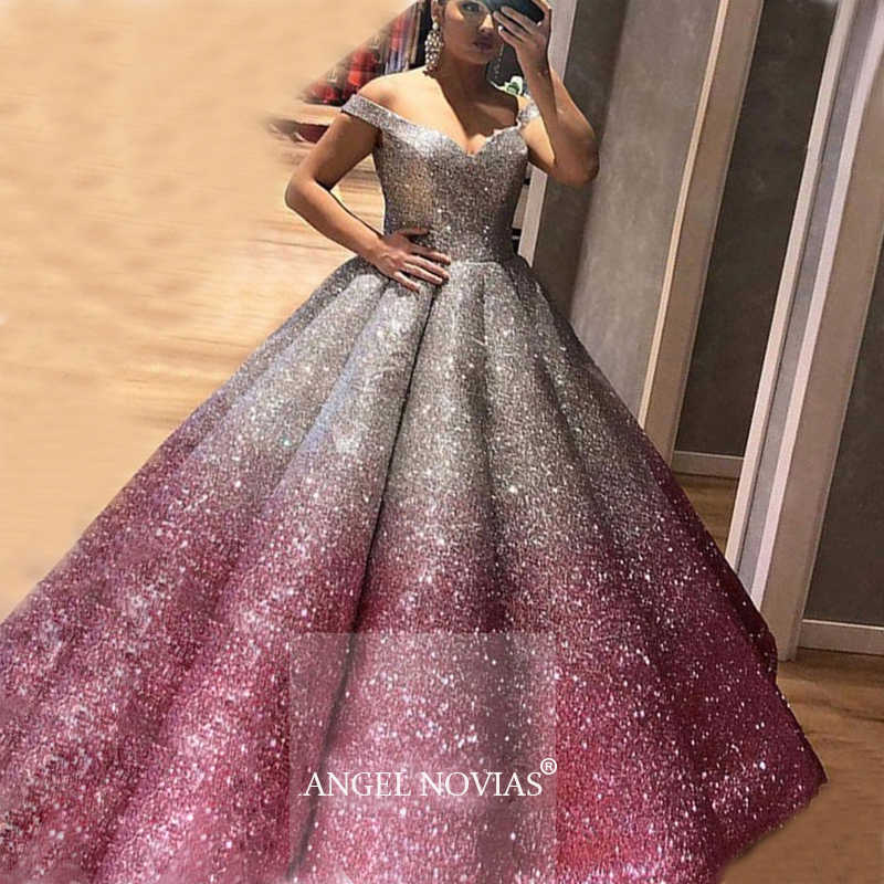 Evening Dress 2020 kaftan Dubai Glitter