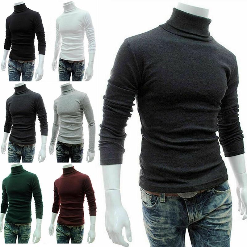 Won Turtleneck Basic Long Sleeve Casual Slim T-Shirt Top Pullover WinterPLUS