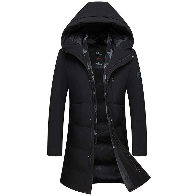 Lungo Inverno 90% Anatra Imbottiture Uomini Giacca Con Cappuccio del Cappotto Sciarpa Calda Giubbotti Mens Abbigliamento 2020 Parka Casaco Masculino KJ652