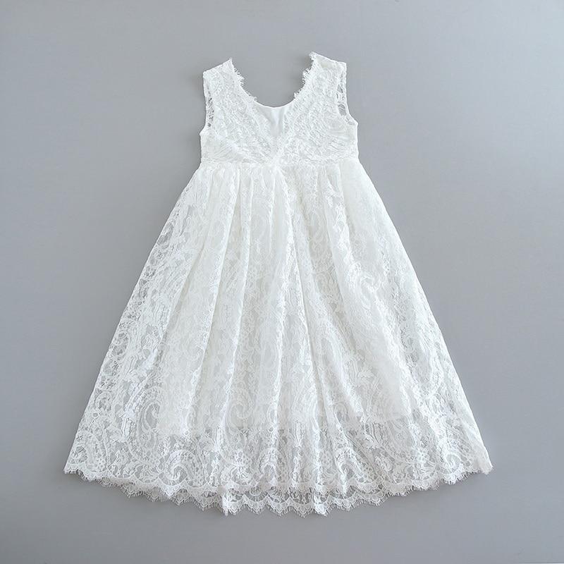 70-9-White Lace Girls Dress