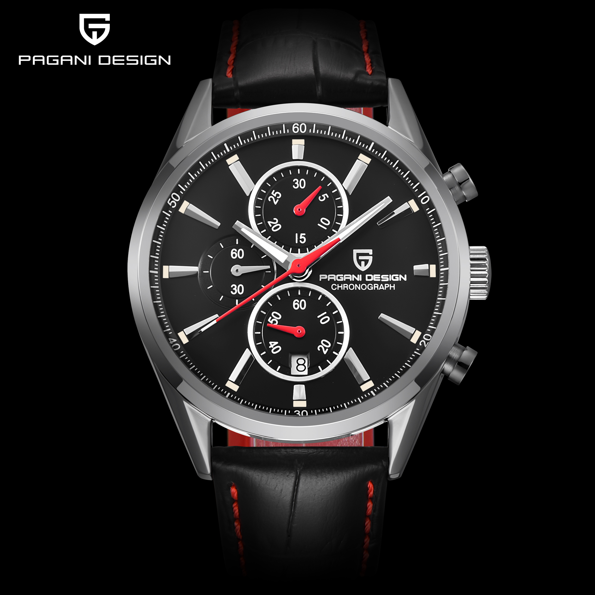 PAGANI DESIGN Men Fashion Blue Dial Chronograph Quartz Watch Men Sport Business Watches Stainless Steel Luxyry Watches Saat