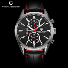 PAGANI DESIGN Men Fashion Blue Dial Chronograph Quartz Watch