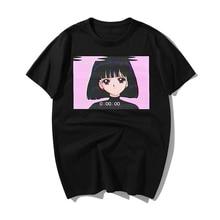 2019 Sailor Moon T Shirt Summer Fashion Sad Girl Japanese Anime Vaporwave T-Shirt Men Funny Tops Tee Shirt Harajuku Streetwear