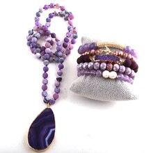 Jewelry-Set Necklace Pendant Fashion And Women for RH Beaded-Stone Semi-Precious