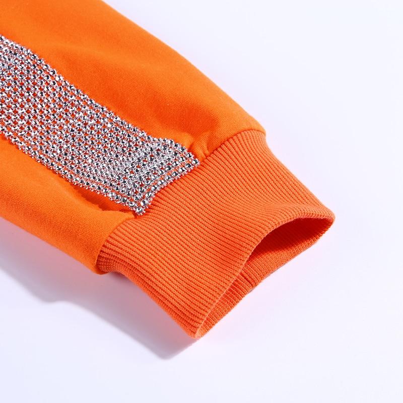 InstaHot Orange Harajuku Slit Hem Hoodies Orange Cotton Swaetshirt Women Oversize Autumn Streetwear Round Neck Casual Sweatshirt 5