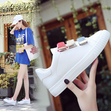 spring and summer new low top color matching tide shoes wild sports shoes running shoes 2020 Spring and Summer New Wild Velcro White Shoes Female Korean Students Sports Shoes Casual Shoes Tide