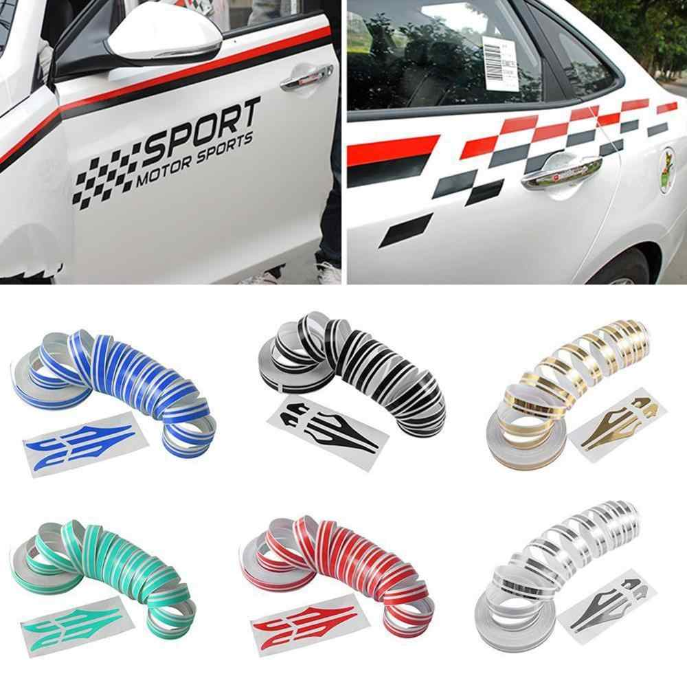 12mm PinStripe Pin Stripe Tape Decal Vinyl Car Stickers Steamline White Gold Silver Double Line Motorcycle Car Styling Accessory