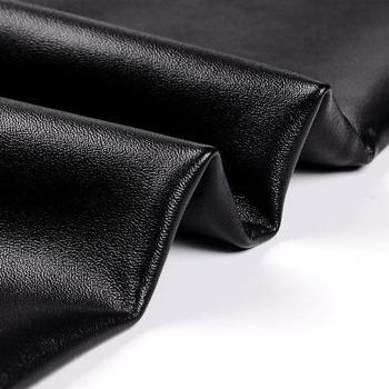 SALSPOR 5XL Plus Size Women Winter Velet Trousers Femme Black Warm Leather Nine pants Ladies Sexy High Waist Slim PU Leggins 6