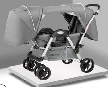 Shenma Twins Baby Stroller  can sit and lay lightweight folding Dragon and phoenix two-children front and back trolleys rotten and rascal the two terrible pterosaur twins