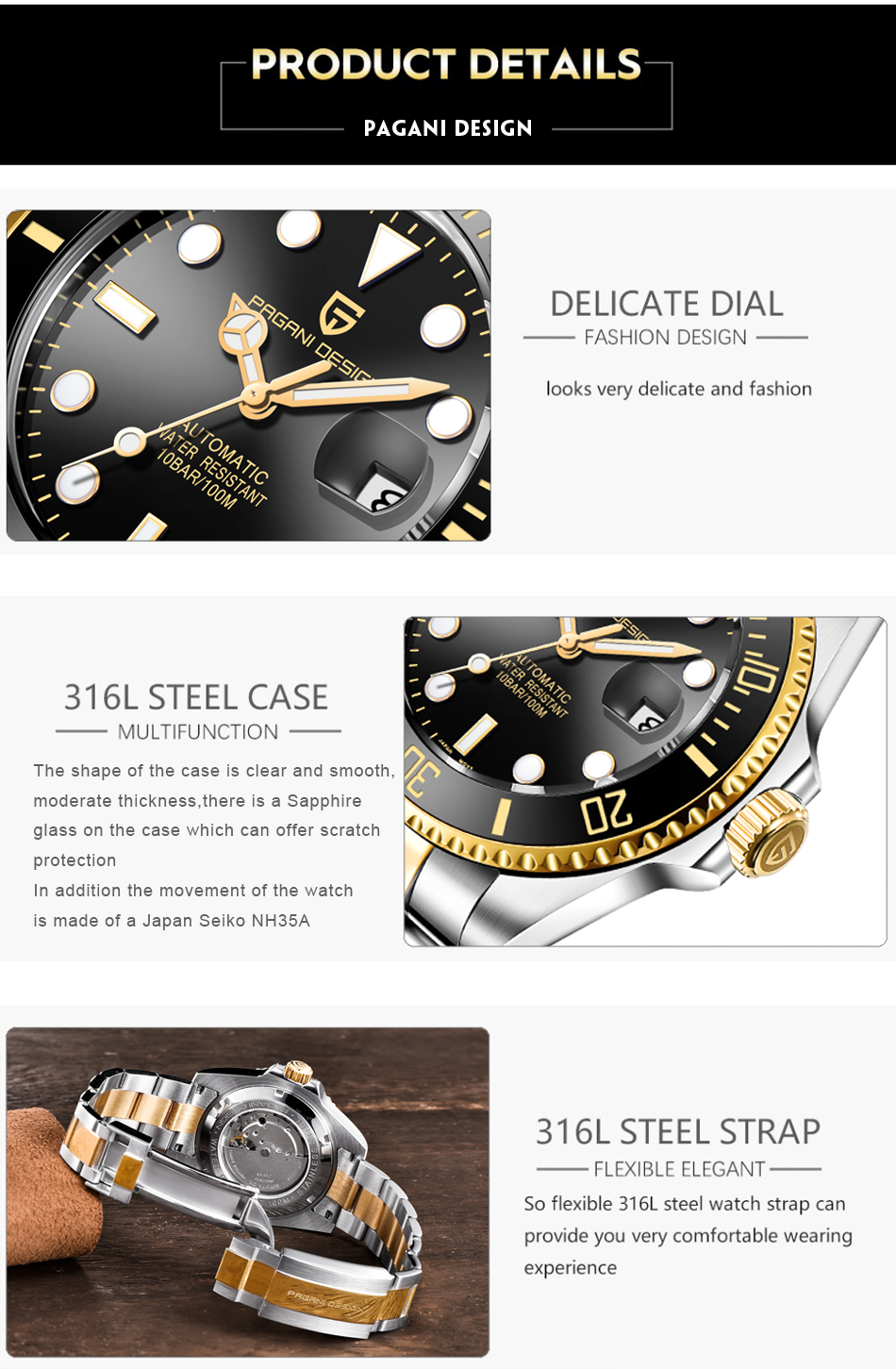 H1980adc064dc45f2961810ebb46fc41c4 PAGANI2019 Design Brand Luxury Men Watches Automatic Black Watch Men Stainless Steel Waterproof Business Sport Mechanical