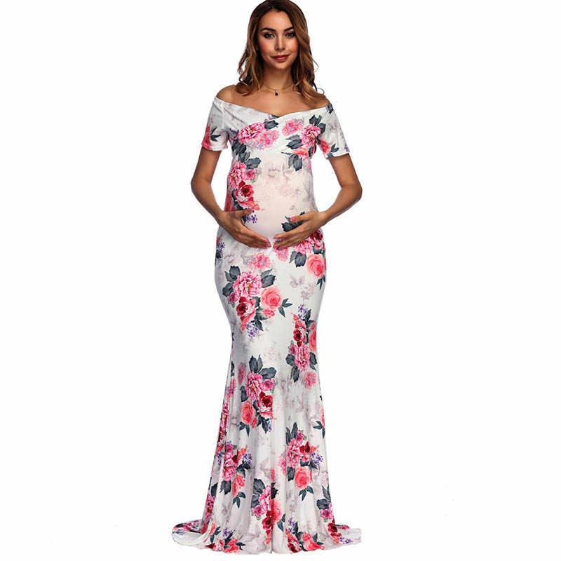 Платья для беременных с принтом для фотосессии Одежда для беременных платье для беременных реквизит для фотосессии одежда