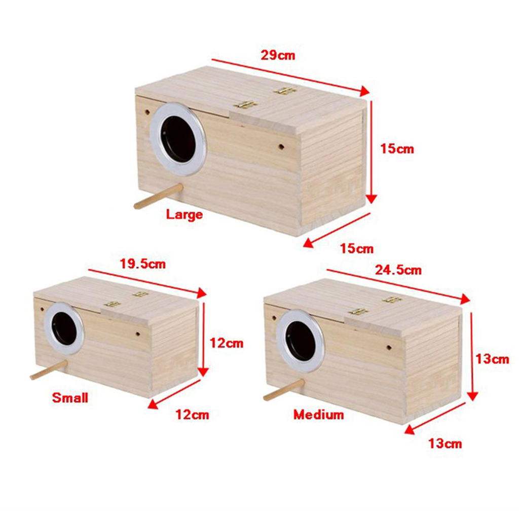 pinzones Jaula de incubadora de p/ájaros agapornis periquitos para cacat/úas Caja de Periquito de Madera Duradera de Seguridad c/álida