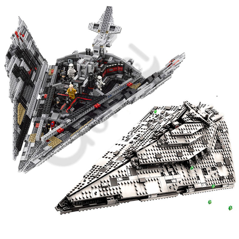 2019 NEW Hot 10901 First Order Star Destroyer Model Building Block Bricks Toys Compatible Lepining Star Wars