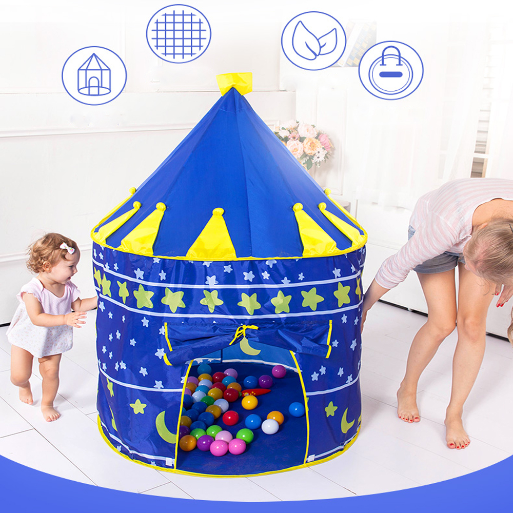 Play Tent Baby Ball Pool Tipi Tent For Kid Pink Blue Children Tent Play House Ball Pit Children's Houses Outdoor Game Tent image
