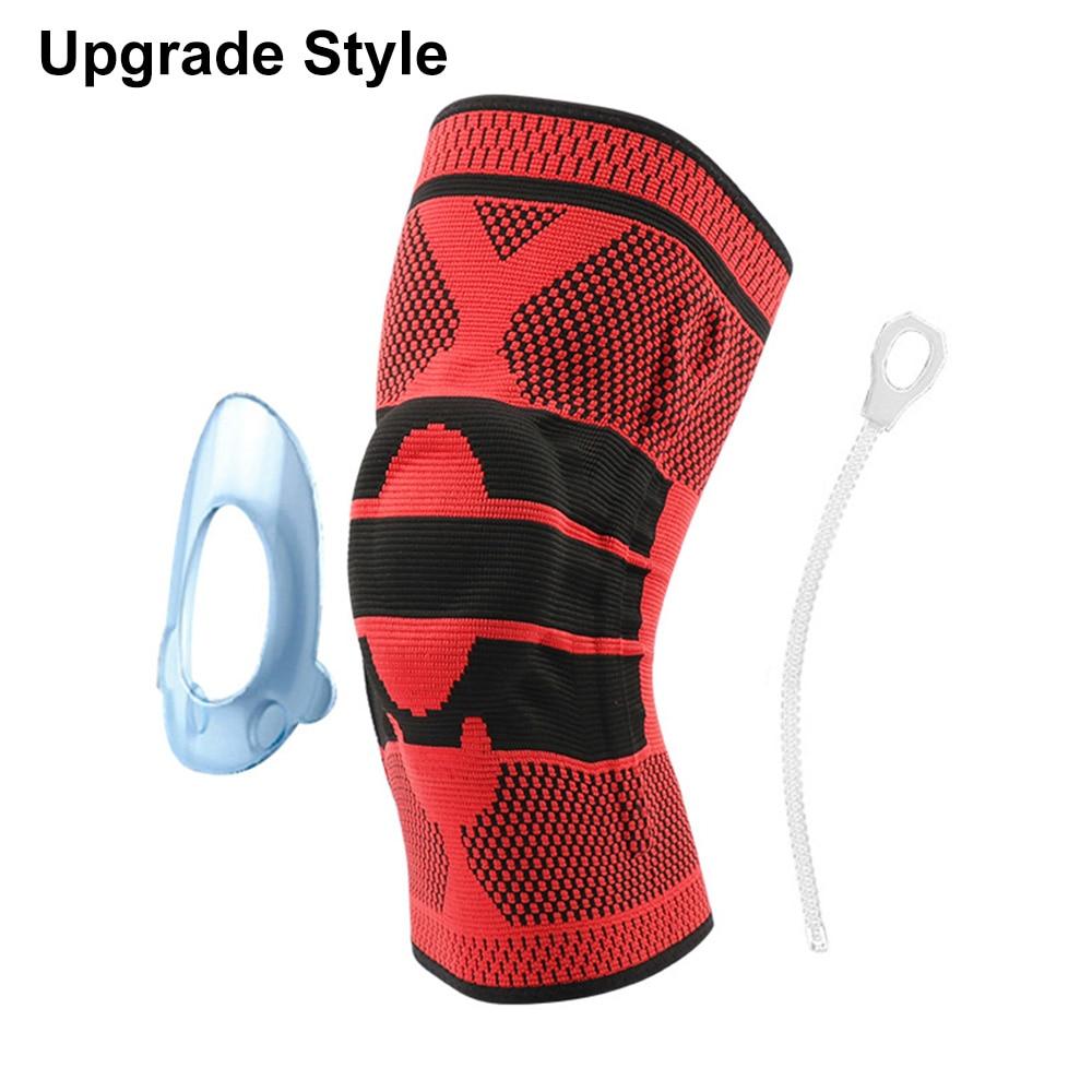 Противоскользящие наколенники для поддержки суставов, Защитные Спортивные наколенники, дышащие, 1/2 шт, мощность подъема, мощная сила отскока, наколенник - Цвет: Upgrade 4