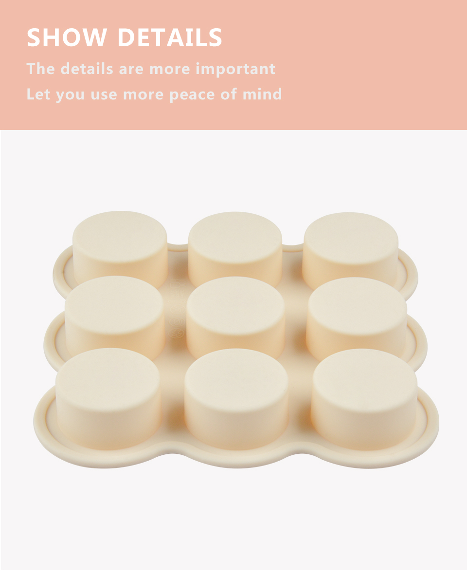 7SILIKOLOVE NEW 9 Holes Sweet Candy Molds Silicone Candy Molds Gummy Candy Mold