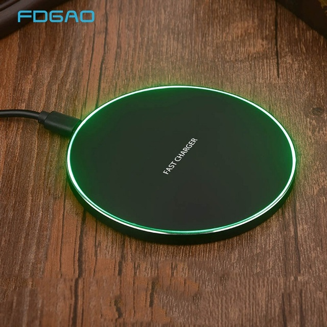 FDGAO 15W Qi Snelle Draadloze Oplader Dock Voor Samsung S9 S10 S10e iPhone X XS XR 8 Huawei Mate 20 P30 Pro Super Quick Opladen Pad