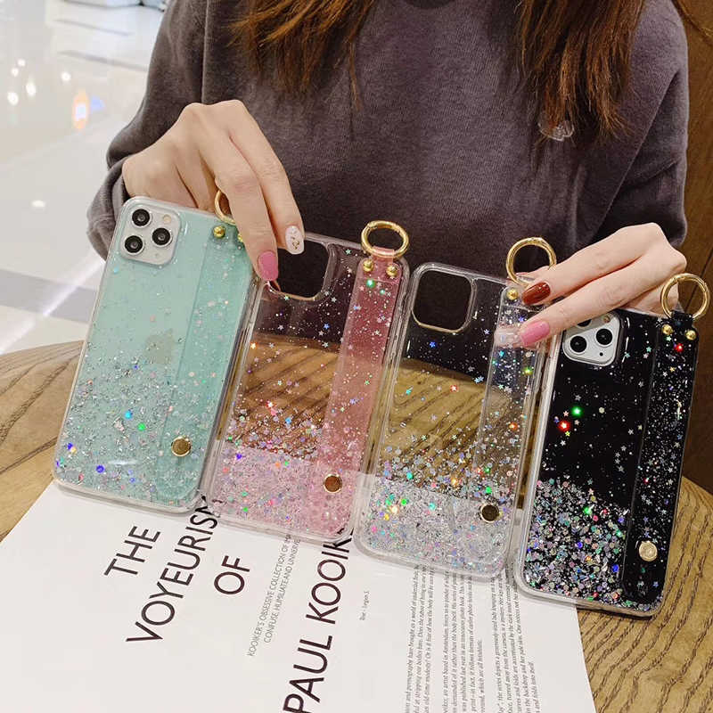 Wrist Strap Soft Tpu Case Voor Xiao Mi Rode Mi Note10 8 7 6 5 Pro K20 Pro Stand Cover voor Mi CC9E 9T CC9 Pro Vinger Ring Coque Capa
