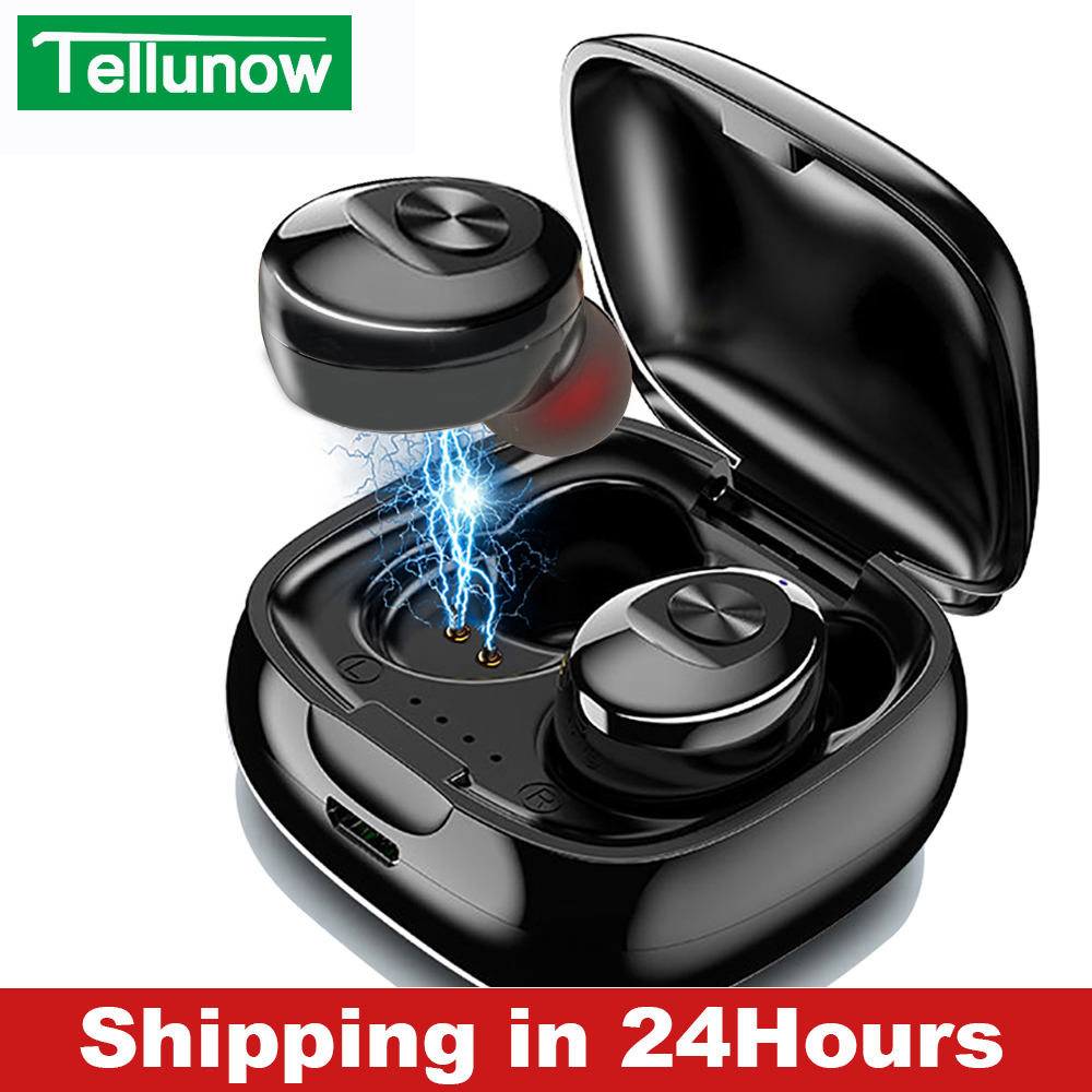 XG12 TWS Bluetooth 5.0 Earphone Stereo Wireless Earbus HIFI Sound Sport Earphones Handsfree Gaming Headset with Mic for Phone-in Bluetooth Earphones & Headphones from Consumer Electronics on AliExpress