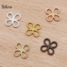 Boyute (100 peças/lote) 5 cores 8mm metal bronze trevo conector encantos diy feito à mão jóias que fazem materiais
