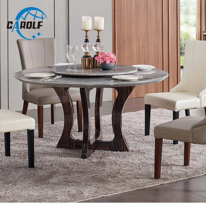 Dining Table Set Room Decorative Modern Dining Table Round Marble Table Top With Solid Wood Legs