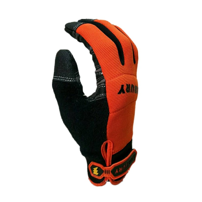 The Highest Quality Extra Durable Puncture Resistance Non-slip And ANSI Cut Level 3  Work Glove(Large,Orange)