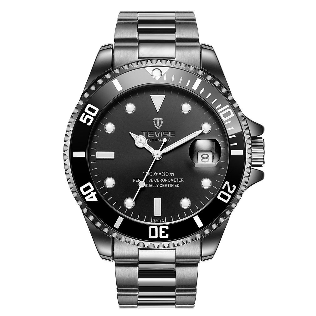 TEVISE Mens Automatic Mechanical Watches Waterproo