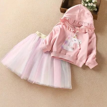2020 Baby Girl Fashion Clothing Set Cute  Dress girls Infant Elegant Clothes Sets Children Party Birthday Wear 7