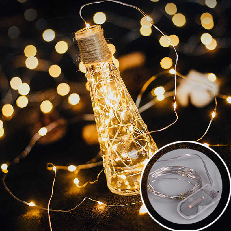 2m 20LED Star Light String Twinkle Garlands Battery Holiday Party Wedding Decorative Fairy Lights Powered Christmas Lamp
