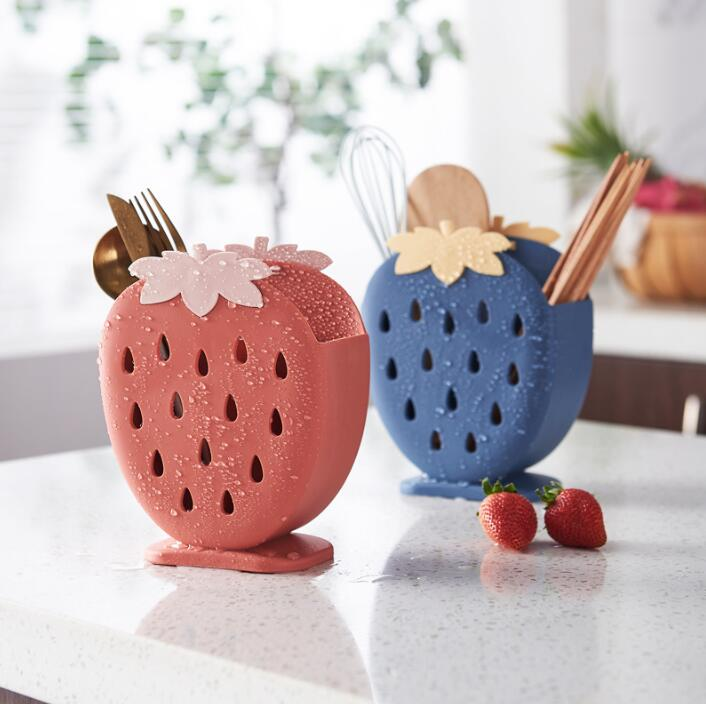 Kawaii Strawberry Utensil Holder - Limited Edition