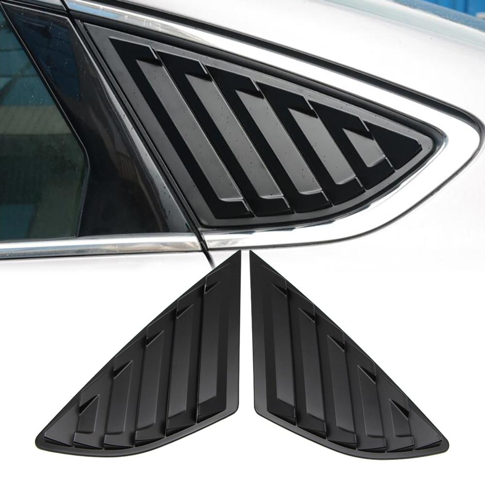 Évent noir mat de couvercle de volet de fenêtre latérale pour Ford Fusion Mondeo 2013 2014 2015 2016 2017 2018 2019