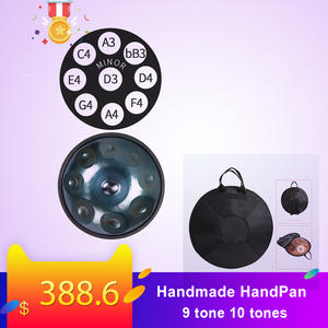 Handmade performance hang drum HandPan hand-made HANDPAN 56cm hang drum 9 tone 10 tones hang musical instrument gift drum bag