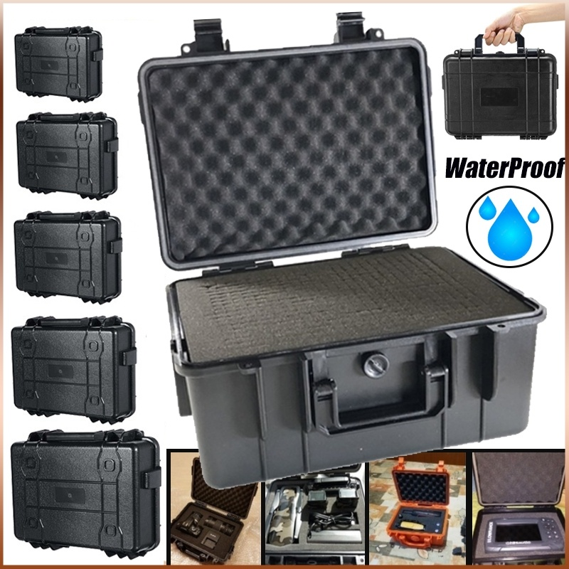 Large Size Tool Box Waterproof Impact Resistant Safety Case Suitcase Toolbox File Box Equipment Outdoor Box With Pre-cut Foam