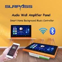 Smart Home Wifi Bluetooth Touch Screen In Muur Versterker Audio Home Stereo Subwoofer Android Geluid Versterkers Met RJ45 RS485