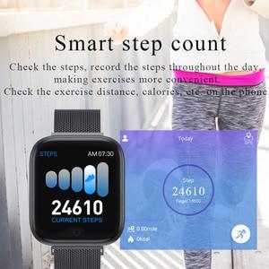 Image 5 - Reloj inteligente T85 con pantalla a Color, pulsera deportiva con control del ritmo cardíaco, la presión sanguínea y el oxígeno