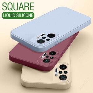 Image 3 - الأصلي مربع السائل سيليكون الحال بالنسبة شاومي Redmi نوت 10 برو 9 8 7 10s 9s 9T K40 K20 برو Poco M3 برو كاندي اللون لينة فوندا