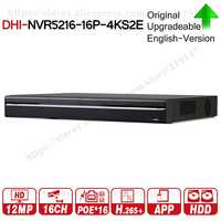Dahua NVR5216-16P-4KS2E Pro 16CH NVR con puerto 16 ch PoE compatible con dos vías de conversación e-poe 800M MAX grabadora de vídeo en red para el sistema.