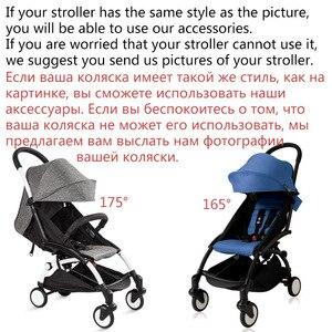 Image 4 - 175 derece arabası aksesuarları bebek Yoya için Babyzen Yoyo koltuk gömlekleri güneş gölge kapak Hood bebek zaman arabası yastık pedi yatak