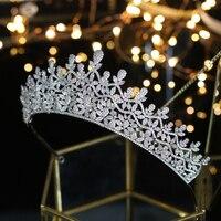 Vintage Luxury Fashion Wedding Crown Zircon Ladies Bridal Hair Jewelry Tiara Bridal Crown Princess Crown Women Hair Accessories