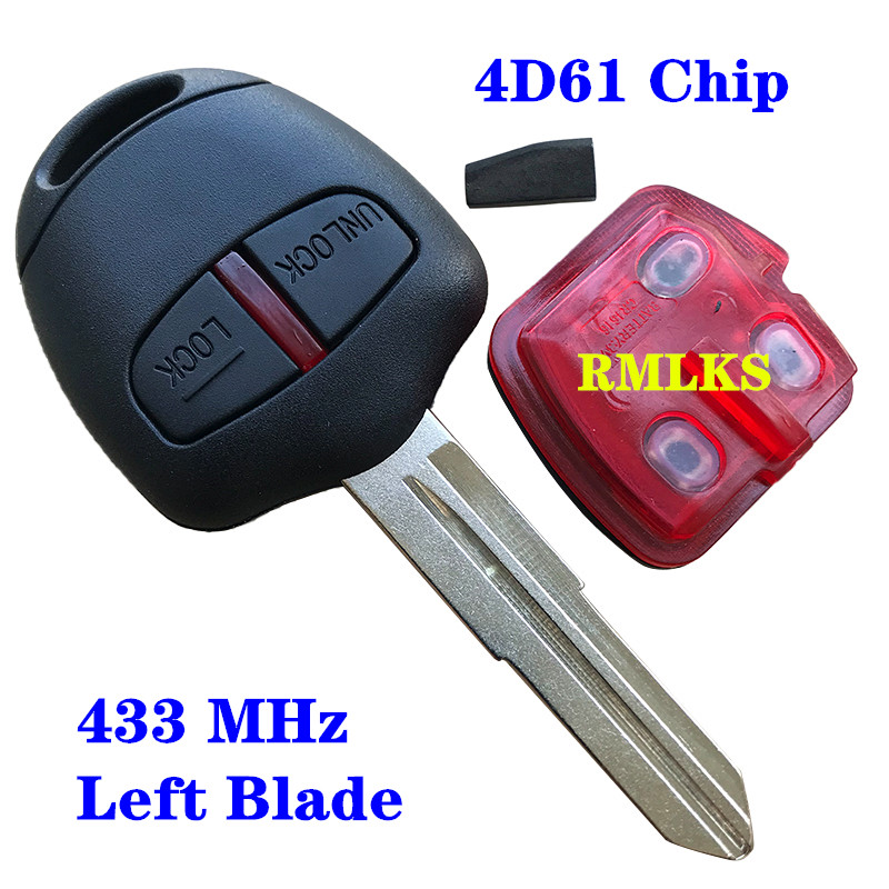 2 Buttons Remote Head <font><b>Key</b></font> For <font><b>Mitsubishi</b></font> 315/433Mhz Transponder Chip ID46 For <font><b>Mitsubishi</b></font> <font><b>L200</b></font> Shogun Pajero Triton <font><b>Key</b></font> Fob MIT11 image