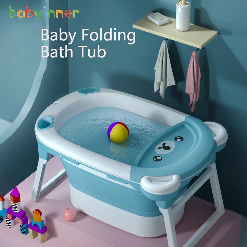 Baby Inner Child Bath Bucket Folding Tub 83*57cm Newborn Large Size Tub Household Infant Bathtub Baby Bath 0-6Years Old