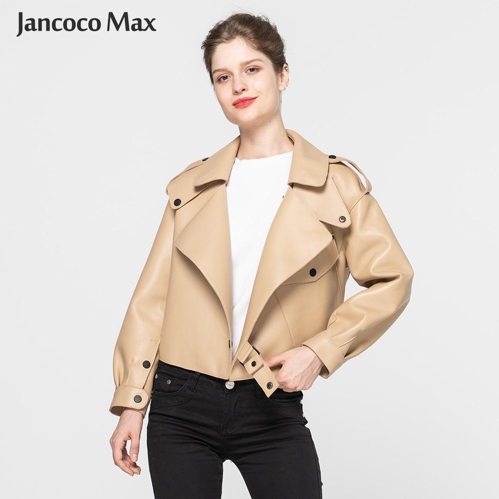 Women's Real Sheepskin Leather Jackets Top Quality Genuine Leather Coat Fashion Jackets Lady New Arrival S7547-in Leather Jackets from Women's Clothing