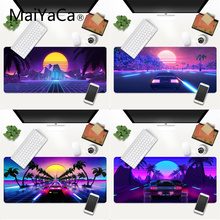 MaiYaCa Neon Retrowave synthwave digital art Mouse Pad XXL Mouse Pad Laptop Desk Mat pc gamer completo for lol/world of warcraft