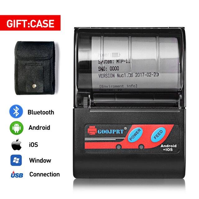 Impresora térmica Bluetooth de 58mm y 2 pulgadas, Mini Impresora inalámbrica portátil de bolsillo para teléfono Android, Windows, aplicación gratuita Loyverse