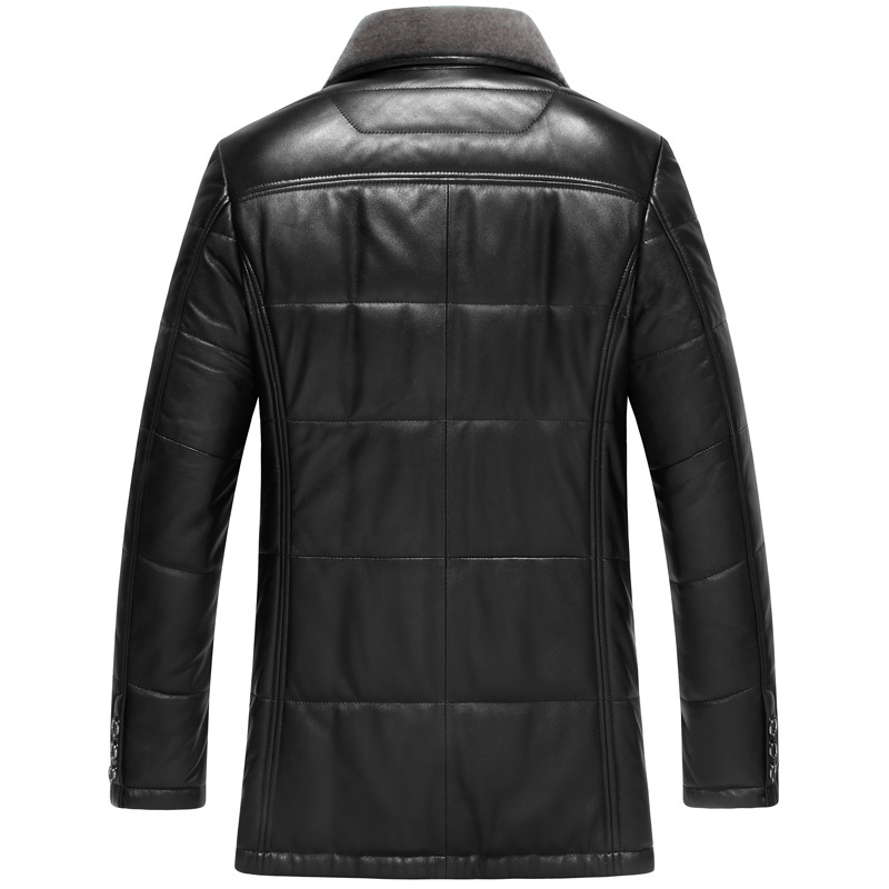 Jacket Black Winter Men Leather Jackets Coats Slim Overcoat Sheepskin Leather Plus Size 5XL Chaqueta Cuero Hombre YYJ0058 S