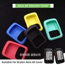 Bryton aero 60 bicicleta computador capa de silicone de borracha caso protetor + filme hd (para bryton aero 60)