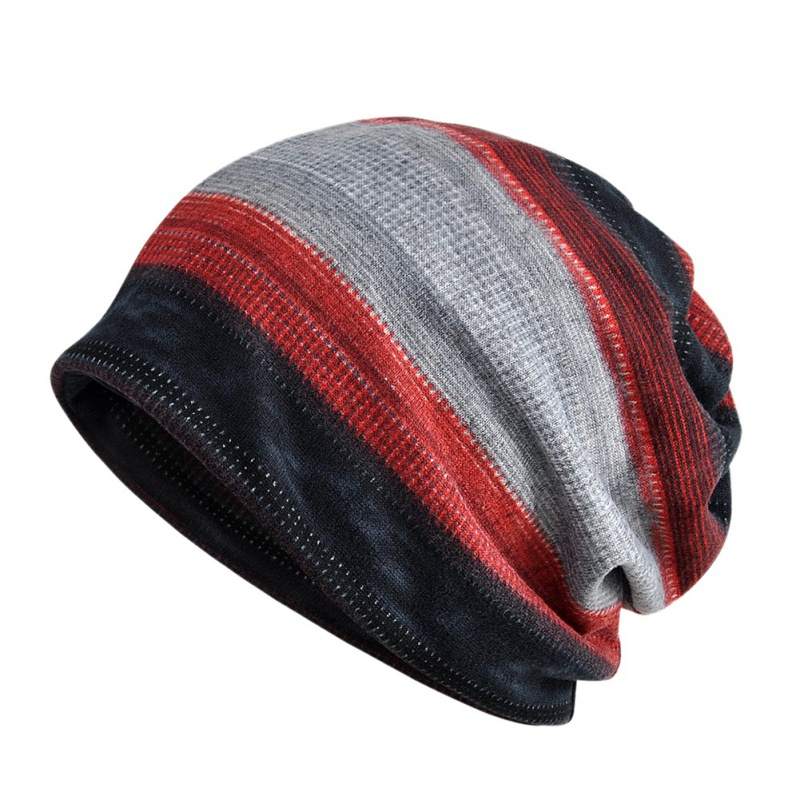 Beanies Cap Scarf Cotton Stretch Sun Hat Autumn Winter Cycling Neck Warmer Head Wear