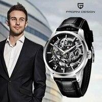 PAGANI DESIGN Mode Luxus Automatische Mechanische Uhr 100M Wasserdichte Uhr Relogio Masculino Top Marke Leder Männer Uhr